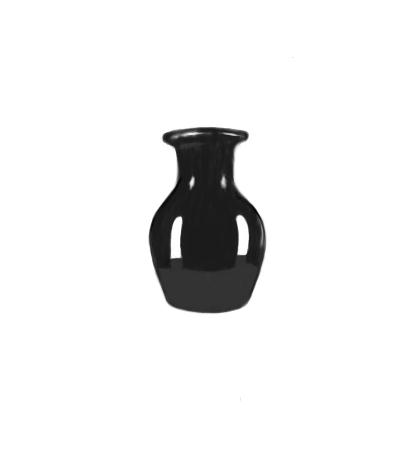April 29, 2013 - A digital painting of a black vase today, so, not so much in the drawing department.