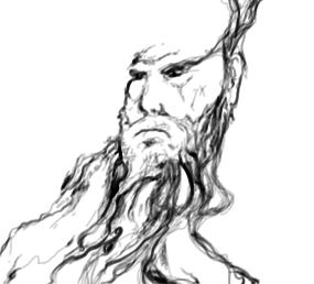 June 10, 2013 - It started with a doodle, and the crazy beard man was born.