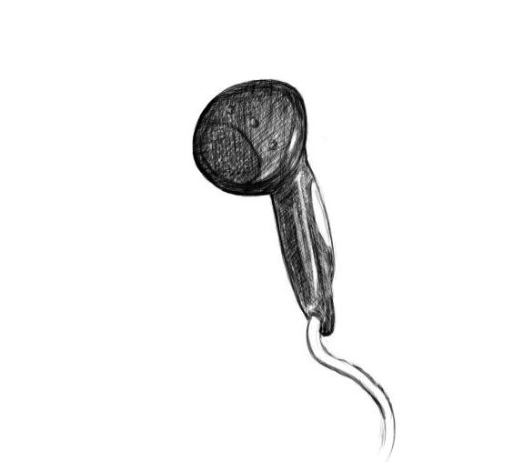 April 5, 2013 - A right earphone drawing for your perusal.