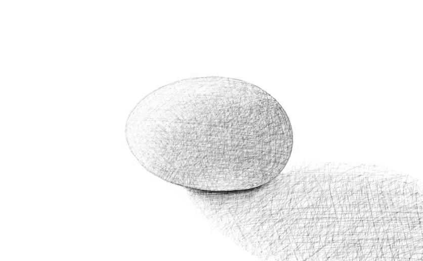 April 18, 2013 - Shading for an egg drawing.