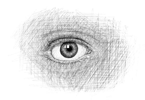 April 12, 2013 - A drawing of an eye. How eerie.