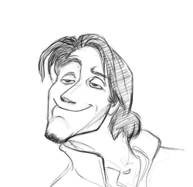 May 23, 2013 - This is a recreation of a Flynn Rider expression as sketched by Glen Keane for the movie Tangled.