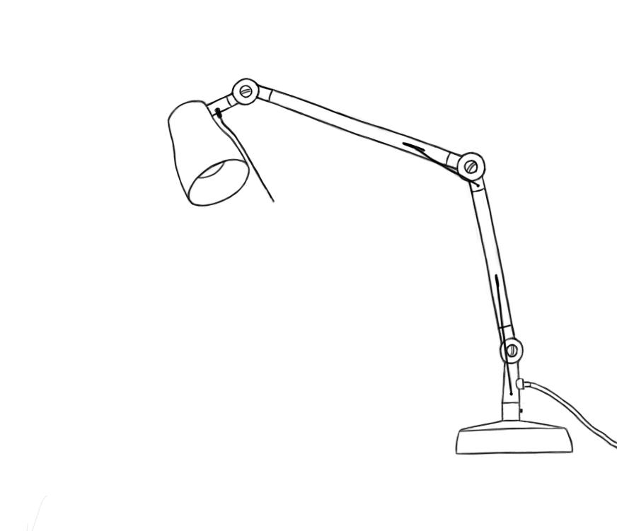 May 6, 2013 - A line drawing of a white lamp. Ovals and perspective can be challenging.