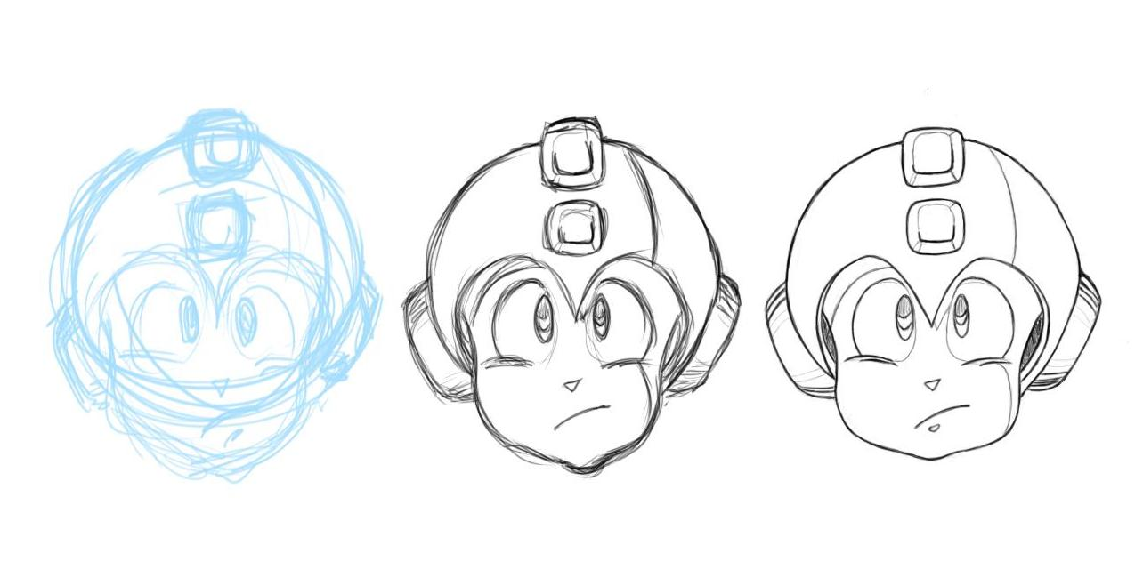 April 30, 2013 - This is a tribute to when I used to draw Mega Man in the lunchroom as a kid.