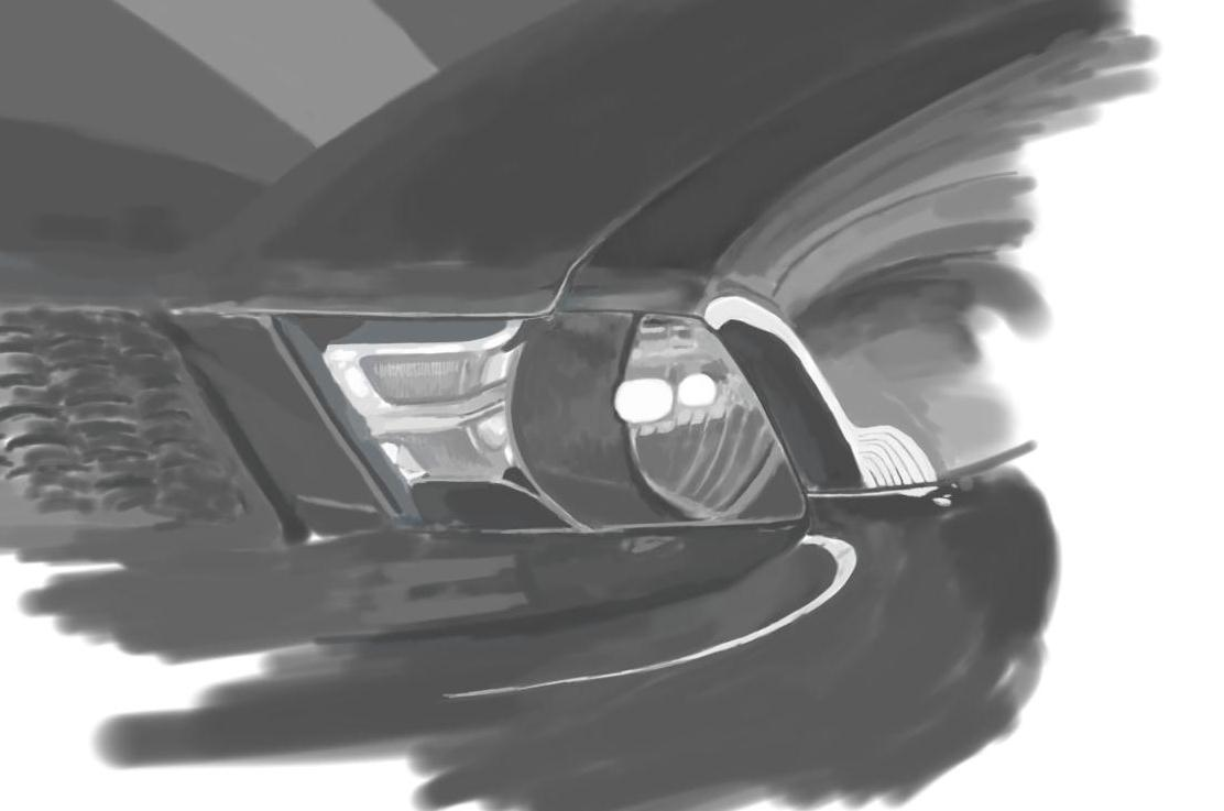 May 10, 2013 - A painting of a mustang headlight. Unfinished of course, but I need to move on for the day.