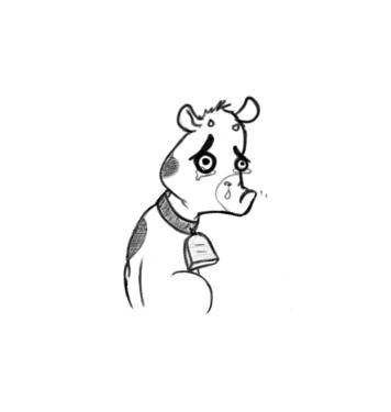 May 29, 2013 - A sad cow teetering on the brink of gushing, sobbing, wailing. It's not easy being a cow.