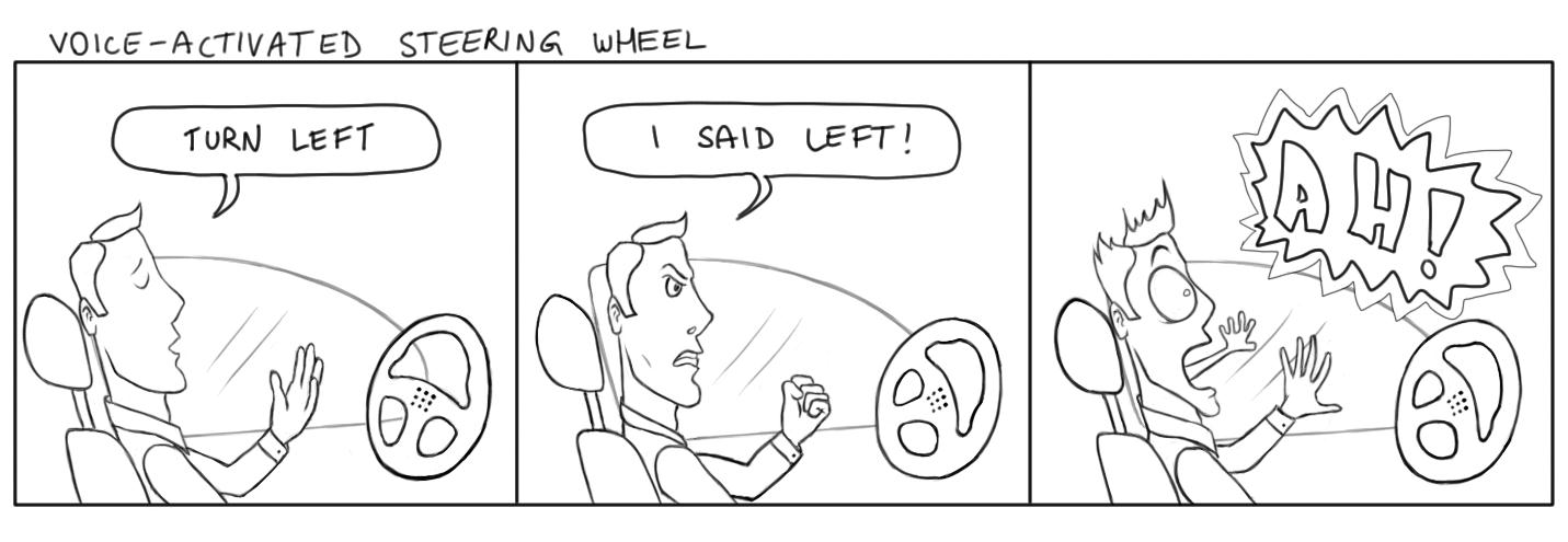 June 19, 2013 - Today I bring you a steering wheel comic, a first of its kind.
