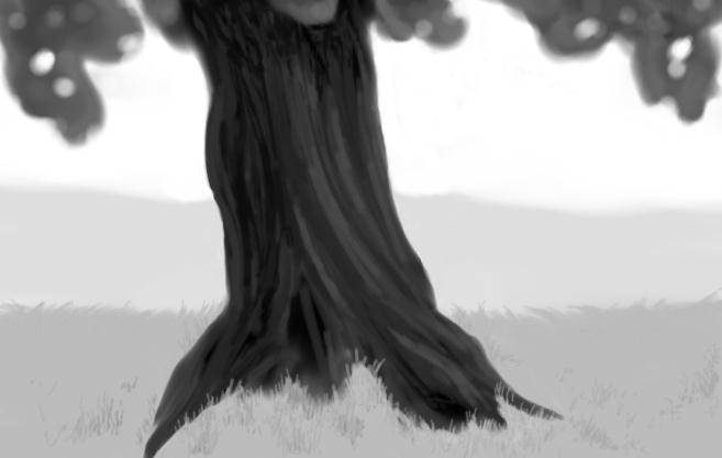 May 20, 2013 - Today I managed to do a digital painting of a tree trunk of some kind.