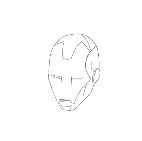 May 3, 2013 - A quick sketch of Iron Man's helmet.